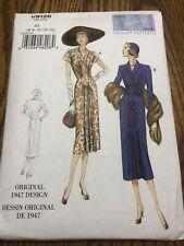 Vogue Vintage Model Sewing Pattern V9126 Original 1947 Design Dress 6,8,10,12,14