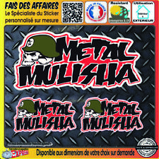 3 Stickers autocollant Metal Mulisha Rockstar Energy Drink Decal Monster skull