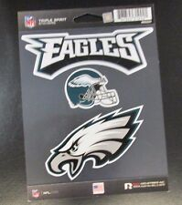 Rico NFL 3 Die Cut Decals Stickers Triple Spirit Helmet Philadelphia Eagles New