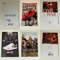 Avengers Civil War LOT. 1-7, Initiative, Epilogue, Opening shot.
