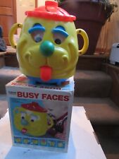 Vintage 1975 Busy Face Baby's Active Toy Gabriel with box # 76100 Kohner Inc.