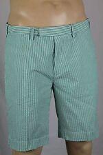 Polo Ralph Lauren Green White Striped Suffield Fit Seersucker Shorts NWT 36