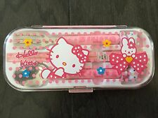 Hello kitty Set Fork, Spoon ,Chopsticks With Case Gift (Pink)