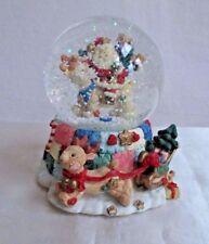 """Musical Santa Waterball Snow Globe Polyresin  """"Santa ClausComing To Town"""""""