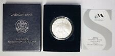 2008-W Reverse of 2007 Burnished Silver American Eagle with Box/COA