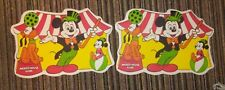 "Pair (2) Mickey Mouse Club Placemat Walt Disney Productions 1960's Pluto 18""x12"