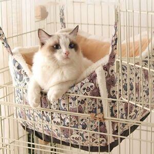 Cat Pet Dog Puppy Hanging Hammock Basket Cage Nest  Litter Swing Soft Bed Winter