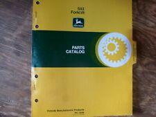 John Deere 543 Forklift Lift Truck Parts Catalog Manual Book Original Pc-1543