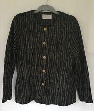 Ladies Women's Size 16 Bon Marche Black And Gold Smart Jacket