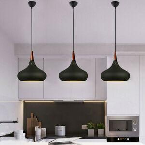 3X Black Pendant Light Wood Ceiling Lights Modern Lamp Home Chandelier Lighting
