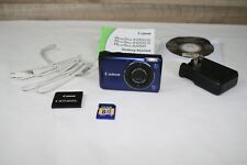 Canon PowerShot A2200 14.1MP Digital Camera - Blue Excellent Condition
