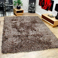 """Very Soft Touch Shaggy Thick High Pile Brown Rug 120 x 160 cm (4'x5'3"""") Carpet"""