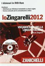 ZINGARELLI 2012 IN DVD-ROM - Nicola Zingarelli - Nuovo con Licenza !!