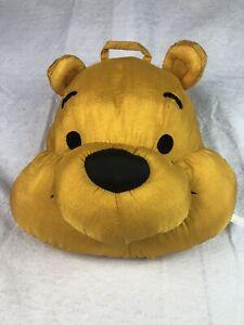 Disney Winnie the Pooh Head/Face Puffalump Hanging Pillow Plush Nylon VTG