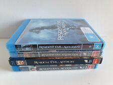 Resident Evil x 4, APOCALYPSE, EXTINCTION, AFTERLIFE, RETRIBUTION Blu-Ray Discs