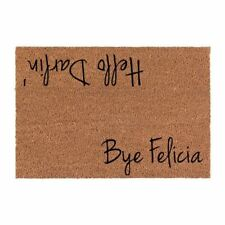 Hello Darlin' and bye felicia Outdoor/Indoor Mat | Natural Coir material - cute