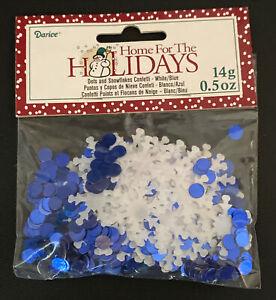 Dots & Snowflakes - Confetti - Blue & White - 14 Grams - 1630-101 Winter Party