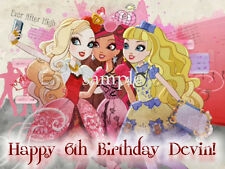 EVER after HIGH Edible ICING Image Decoration CAKE Topper FREE SHIPPING