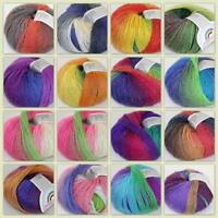 Soft  Colorful 1Ballx50g Cashmere Wool Baby Yarn Hand Dyed Wrap Shawl Knitting