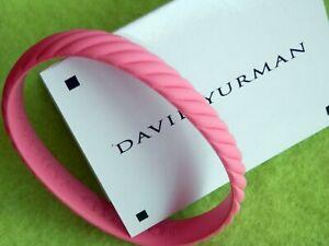 "David Yurman Reversible Bright Pink Rubber Bracelet 7"" Around Small"