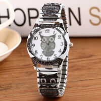 Geneva  Owl Watch  Faux Leather Band Eyes Move Up and Down Every Second Pop*