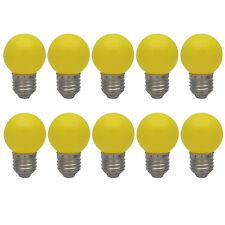 10er E27 Farbig Glühlampen Bunt Glühbirne Partybeleuchtung Dekoration Birne Gelb