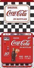 VINTAGE COCA COLA CHEST VENDING COKE MACHINE STYLE BANNER SIGN MURAL ART 3' X 6'