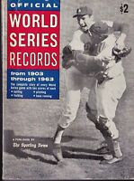 1964 Official World Series Records book with Sandy Koufax on cover