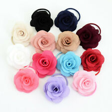 13Pcs Baby Girl Toddler Rose Flower Cloth Ropes Headband Hair Ponytail Holder