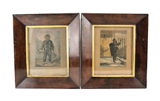 Pair George Baxter relief and intaglio prints Copper Your Honour Morning Call