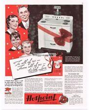 1937 HOTPOINT Electric Range DORCHESTER Stove Oven Vtg Print Ad