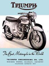 Triumph Cycles, Retro Vintage Metal Sign, Man Cave, Garage, Gift