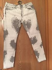 The Kooples  Bleach Stain Ankle Jeans Waist Size 28