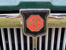 MG Bonnet 2407 Grille Real Photo A4 Metal Sign Aluminium