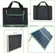2 x 50W Portable Powered Fold Poly Photovoltaic 12V Solar Panel Kit for Outdoor