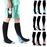 Unisex Compression Socks Sports Men Women knee high Running Fitness Stocking
