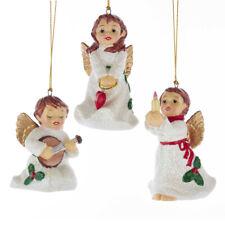 "Kurt Adler Christmas Angel Porcelain Retro Ornament 3"" New 2019 J7384 You PIck"