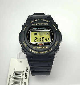 Casio G shock DW5735D-1B 35th Annv Edition Black / Gold tone accent DW5735D New