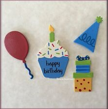 Happy Birthday Metal Magnets Set of 4 by ROEDA® Free U.S. Shipping