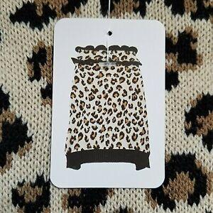 Vibrant Life Leopard Dog Apparel Clothes Sweater MEDIUM Beagle Poodle Brown