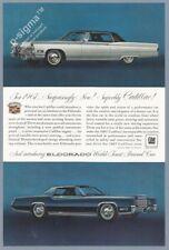 1967 Cadillac Eldorado 1966 Vintage Car Print Ad