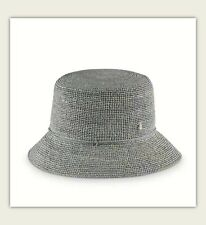 Helen Kaminski XY Tony Storm Gray Straw Hat  Rollable Mens Bucket  L NWT  $290