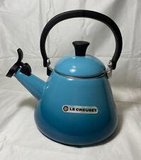Le Creuset Whistling Kone Tea Kettle 1.6 Litres 1.7 qts Enamel on Steel - Teal