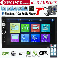 "7"" 2 DIN Car DVD Player Stereo Head Unit Bluetooth Radio FM USB+Free Camera"