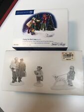 Set of 2 Dept 56 Snow Village Whole Family Goes Shopping, Finding the Birds Song