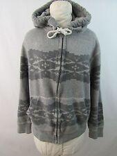American Eagle Hoodie Zip up Jacket Sweatshirt Aztec Gray Womens Size M