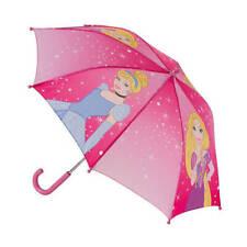 Girls Pink Disney Princess Bubble Dome Umbrella Rain Brolly Back To School
