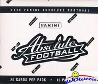 2016 Panini Absolute Football Factory Sealed JUMBO FAT 12 Pack Box-240 Cards!