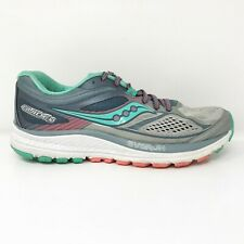 Saucony Womens Guide 10 S10350-5 Gray Blue Running Shoes Lace Up Low Top Size 7
