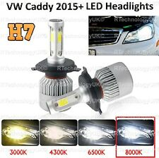 VW Amarok 100w Super White Xenon HID Low Dip//Slux LED Side Light Headlamp Bulbs